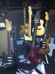 Bobby's guitars for the 2013 UK tour with The Classic Rock Show.