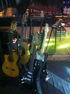 Bobby's guitars for the 2013 Brit Floyd North American tour.