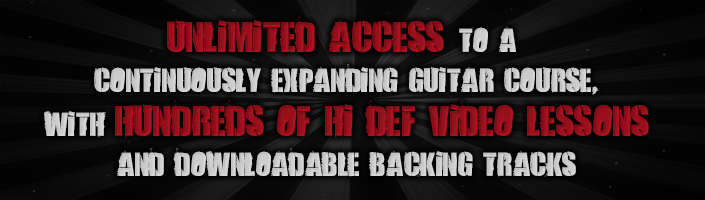 Unlimited access to a continuously expanding guitar course