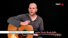 Naming The Strings - a FretHub online guitar lesson, with NickRadcliffe