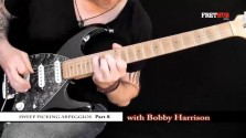 Sweep Picking Arpeggios - Part 8 - a FretHub online guitar lesson, with Bobby Harrison