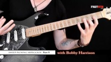 Sweep Picking Arpeggios - Part 9 - a FretHub online guitar lesson, with Bobby Harrison