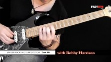 Sweep Picking Arpeggios - Part 10 - a FretHub online guitar lesson, with Bobby Harrison