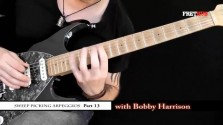 Sweep Picking Arpeggios - Part 13 - a FretHub online guitar lesson, with Bobby Harrison