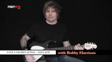 Five Chord Song - Hey Joe - a FretHub online guitar lesson, with Bobby Harrison