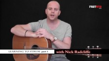Learning To Strum 1 - a FretHub online guitar lesson, with Nick Radcliffe