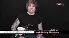 Introducing Picking Part 1 -a FretHub online guitar lesson, with Bobby Harrison