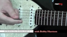 Introducing Picking Part 2 - a FretHub online guitar lesson, with Bobby Harrison