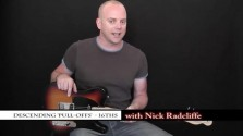 Descending Pull-Offs 16ths - a FretHub online guitar lesson, with Nick Radcliffe