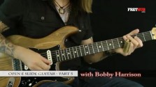 Slide: Open E part 5 - a FretHub online guitar lesson, with Bobby Harrison
