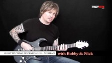 Substituting Pentatonics - Mixolydian - a FretHub online guitar lesson, with Bobby Harrison and Nick Radcliffe