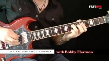 Soloing With Arpeggios - Part 1 (introduction) - a FretHub online guitar lesson, with Bobby Harrison