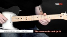 The Notes On The Neck - Part 3 - a FretHub online guitar lesson, with Bobby Harrison