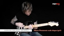 Minor Pentatonic Scale Shapes - Part 3 - a FretHub online guitar lesson, with Bobby Harrison