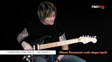 Minor Pentatonic Scale Shapes - Part 4 - a FretHub online guitar lesson, with Bobby Harrison