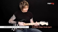 Caged Major Scales - Part 1 - a FretHub online guitar lesson, with Bobby Harrison