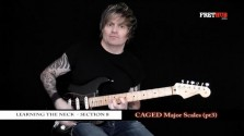 Caged Major Scales - Part 3 - a FretHub online guitar lesson, with Bobby Harrison